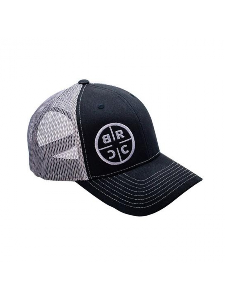 Кепка Black Rifle Coffee Company Circle Logo Trucker Hat – Black w/Grey Mesh