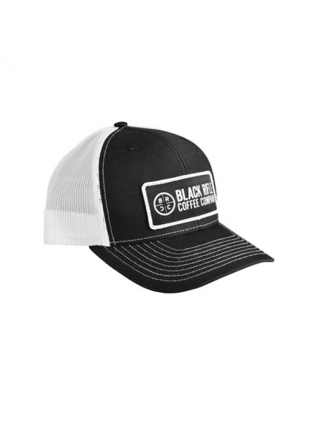 Кепка Black Rifle Coffee Company Logo Patch Hat – Black w/White Mesh