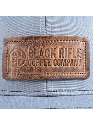 Кепка Black Rifle Coffee Company Leather Patch Trucker Hat – Grey w/Black Mesh
