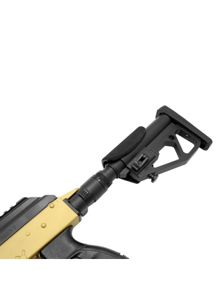 Труба з компенсатором віддачі для установки приклада типу М4/М16/AR-15 MilSpec на АК